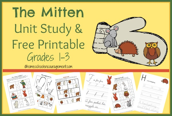 The Mitten Unit Study & FREE Printable | Reading with Frugal Mom